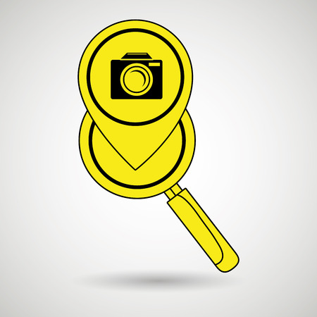 users video: search pin app internet vector illustration graphic