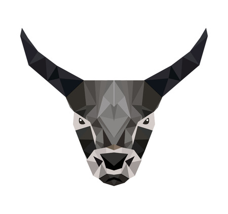 goat head: goat head low poly isolated icon vector illustration design