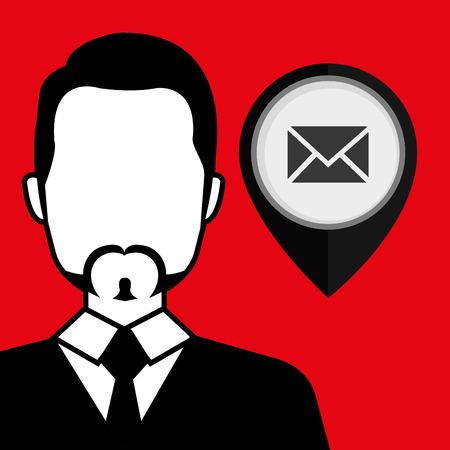 illustratio: silhouette web internet pin vector illustratio graphic