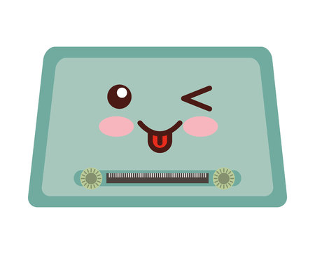 blaster: old music player isolated icon vector illustration design Illustration