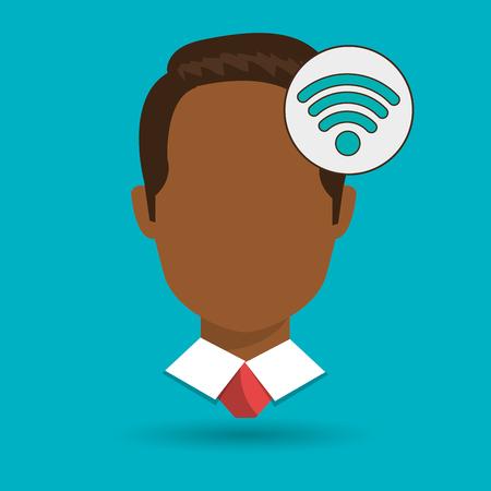 illustratio: silhouette web internet app vector illustratio graphic