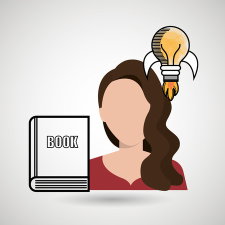 woman book idea icon vector illustration design Illustration