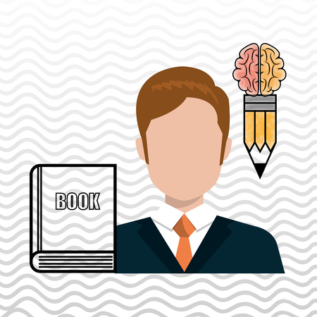 man book idea icon vector illustration design
