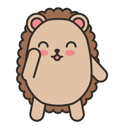 tender: cute purcopine animal tender isolated icon vector illustration design