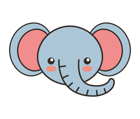 tender: cute elephant animal tender isolated icon vector illustration design Illustration