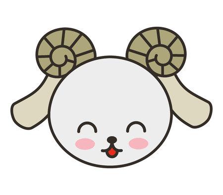 tender: cute goat animal tender isolated icon vector illustration design