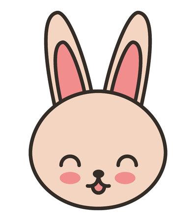 tender: cute rabbit animal tender isolated icon vector illustration design
