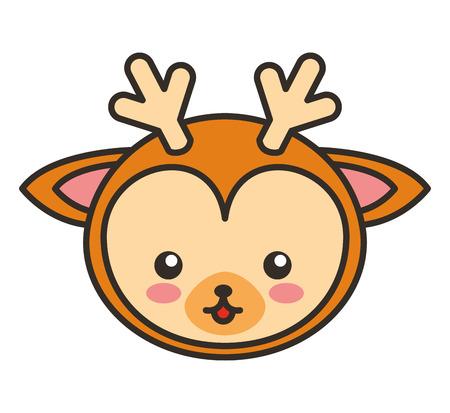 tender: cute deer animal tender isolated icon vector illustration design