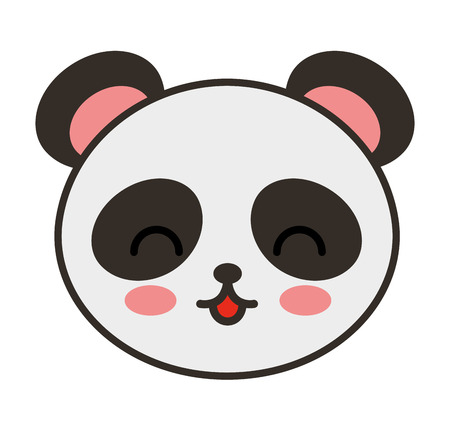 tender: cute bear panda animal tender isolated icon vector illustration design