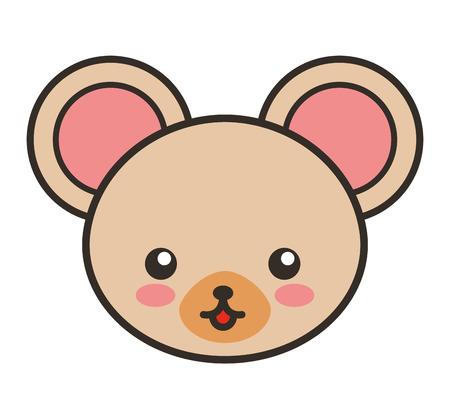 tender: cute bear animal tender isolated icon vector illustration design Illustration