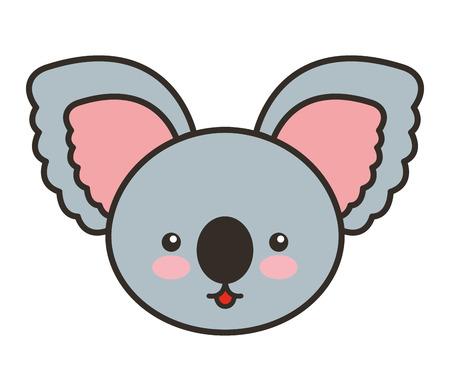 tender: cute koala animal tender isolated icon vector illustration design