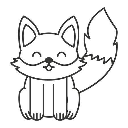 tender: cute fox animal tender isolated icon vector illustration design