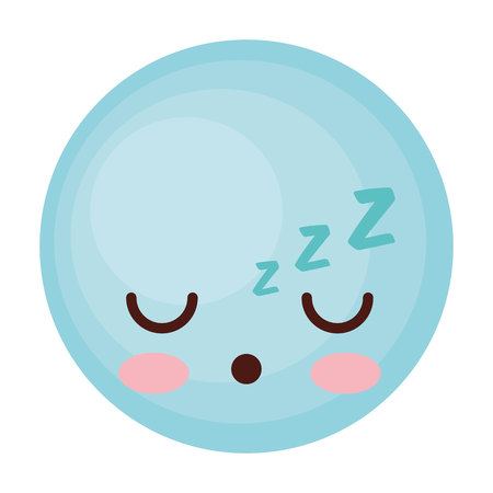 face emoticon cute circle icon vector illustration design Illustration