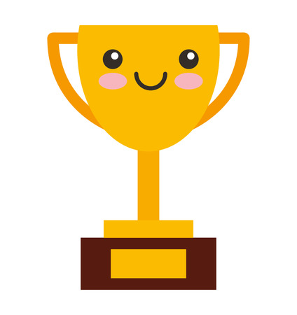 kawaii: trophy character isolated icon vector illustration design kawaii