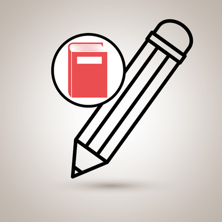 red sound: book literature library icon vector illustration design Illustration