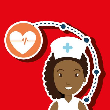 medical staff: woman medical staff service vector illustration design
