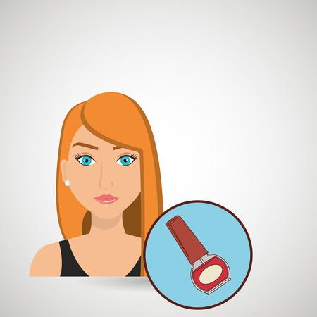 stylist: woman cosmetic nail stylist vector illustration design