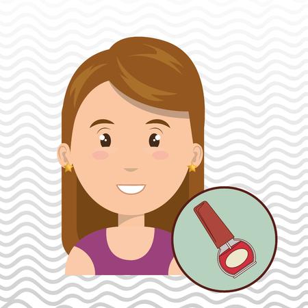 manicurist: woman cosmetic nail stylist vector illustration design