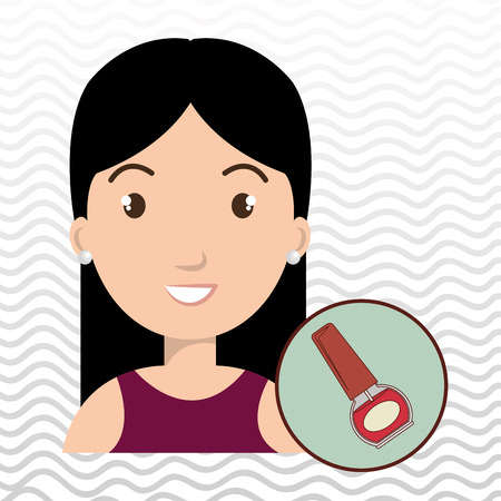 estilista: woman cosmetic nail stylist vector illustration design