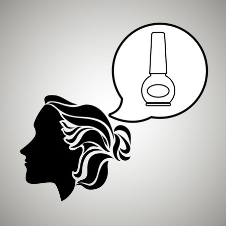 stylist: silhouette cosmetic stylist icon vector illustration design Illustration