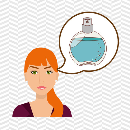 woman salon fragrance vector illustration icon eps 10