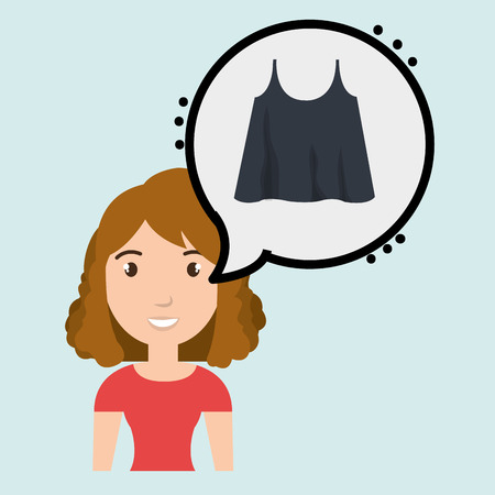choosing clothes: woman clothes closet vector illustration design eps 10 Illustration