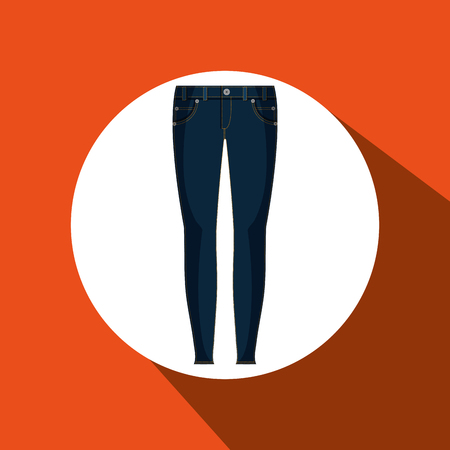 woman closet: jeans woman closet clothes vector illustration design