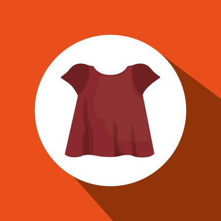 coordinated: jeans woman closet clothes vector illustration design
