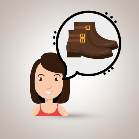 choosing clothes: woman clothes closet vector illustration design eps 10 Illustration