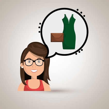 gass: woman clothes closet vector illustration design eps 10 Illustration