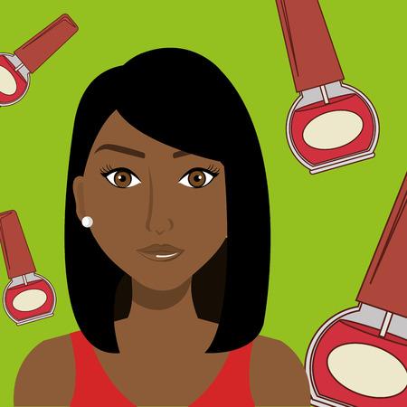 stylist: woman cosmetic nail stylist vector illustration graphic Illustration