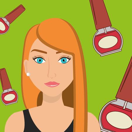 estilista: Mujer de uñas cosmética ejemplo del estilista del gráfico de vector