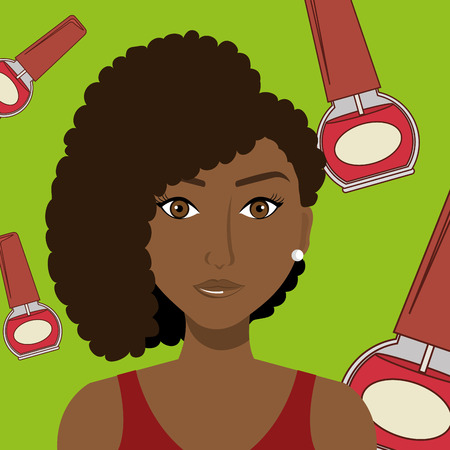 woman cosmetic nail stylist vector illustration graphic Illustration