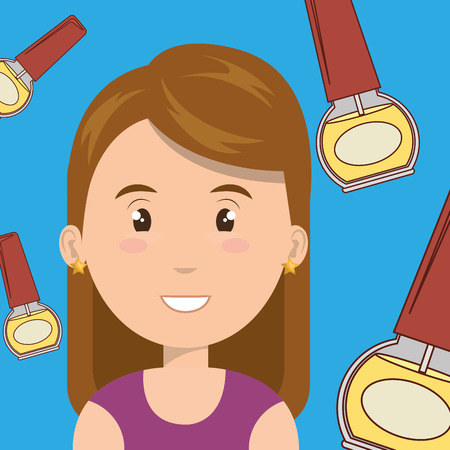 manicurist: woman cosmetic nail stylist vector illustration graphic Illustration