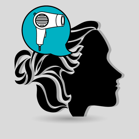 stylist: silhouette cosmetic stylist icon vector illustration graphic