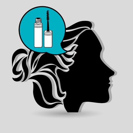 estilista: silueta estilista cosm�tica icono de la ilustraci�n de gr�ficos vectoriales Vectores