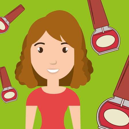 stylist: woman cosmetic nail stylist vector illustration graphic Stock Photo