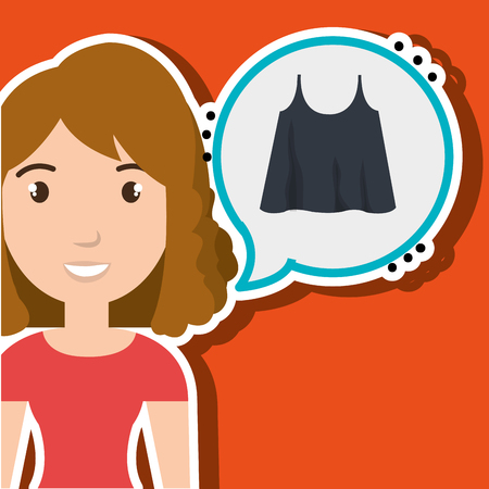 choosing clothes: woman clothes closet vector illustration graphic eps 10 Illustration