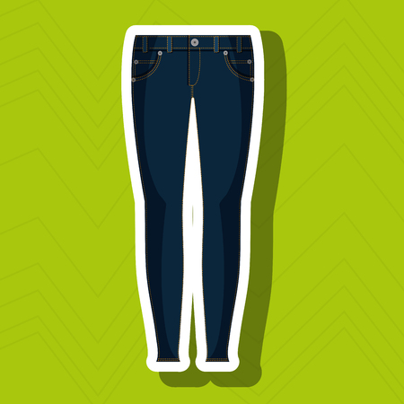 woman closet: jeans woman closet clothes vector illustration graphic Illustration