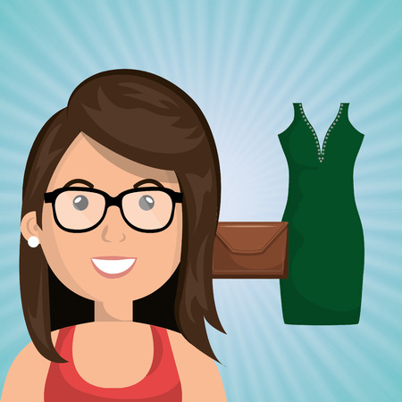 gass: woman clothes closet vector illustration graphic eps 10 Illustration