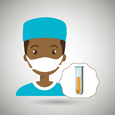 nurse laboratory chemistry vector illustration Illustration