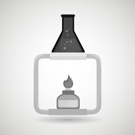 paramedical: burner tube lab chemistry vector illustration graphiic Illustration