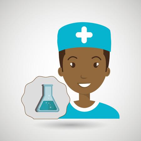 nurse laboratory chemistry vector illustration graphic eps 10