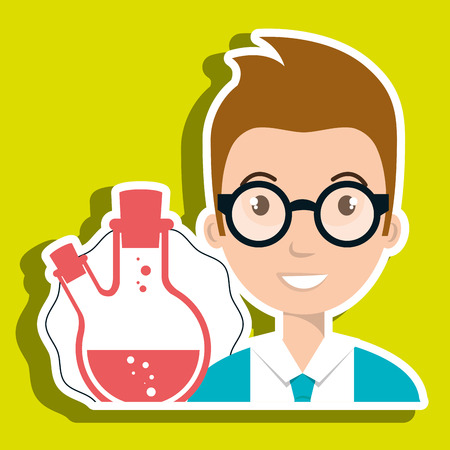 laboratory tools: student laboratory tools vector illustration graphic eps 10