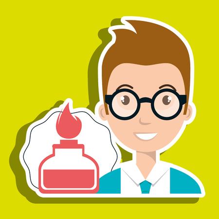 student laboratory tools vector illustration graphic eps 10