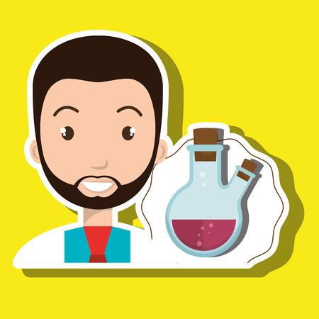 doctor laboratory tube chemistry vector illustration graphic Illustration