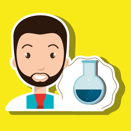 discovering: doctor laboratory tube chemistry vector illustration graphic Illustration