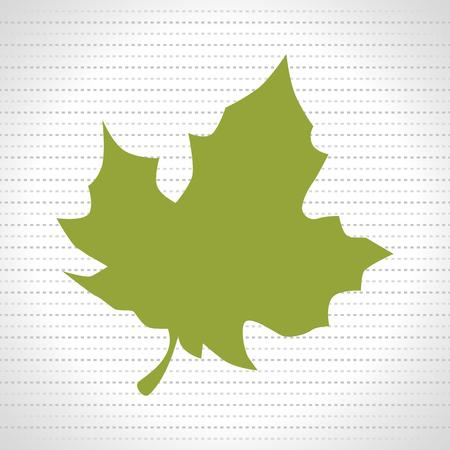 leaf plant natural sheet vector illustration design Illustration