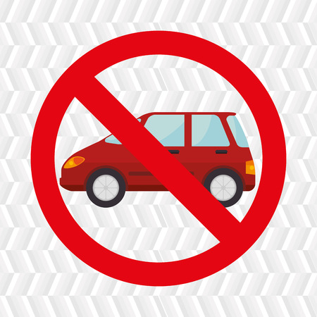 symbol transit car location vector illustration design