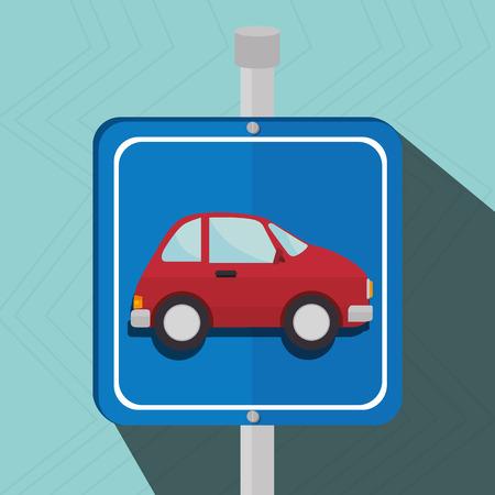 reserved: parking lot symbol notice vector illustration design Illustration